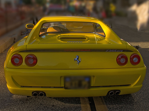 Beautiful yellow sports car